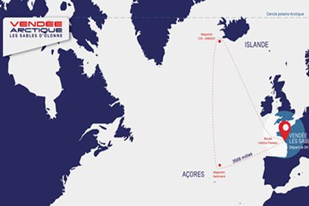 Vendée-Arctique Les sables d'Olonne : suivez la position de l'IMOCA MACSF